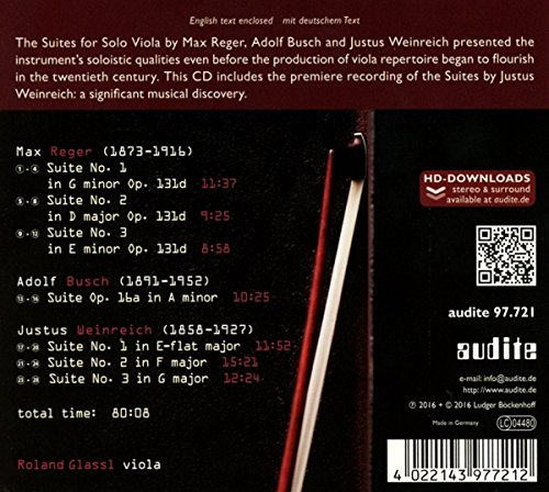 "CD cover ""Suites"" back"